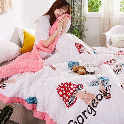 水洗棉夏凉被空调被韩版网红夏被单人被双人被可机洗夏季薄被子