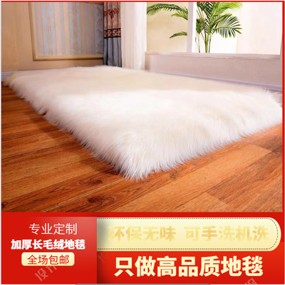 新款加厚长毛绒地毯沙发卧室飘窗垫阳台地垫客厅房间床边仿羊毛毯