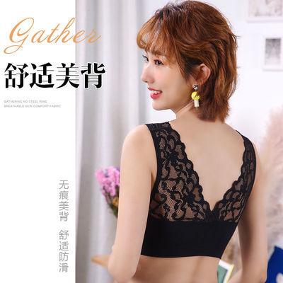 包邮美背内衣女学生韩版无钢圈蕾丝抹胸运动小背心防下垂文胸裹胸