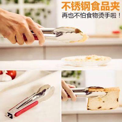 2020新品特卖【买二送一买四送二】加厚不锈钢食品夹馒头夹自助餐