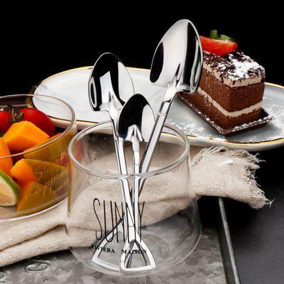 2020新品特卖复古加厚优质不锈钢铁锨勺子创意咖啡甜品雪糕搅拌饭