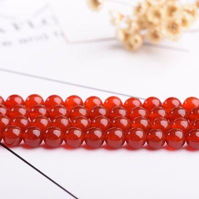 天然黑红玛瑙散珠穿手链串珠手工编织DIY材料包饰品配件水晶珠子