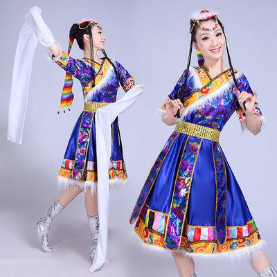 2020新品特卖女装民族舞蹈服装表演服饰西藏蒙古广场舞水袖藏族舞