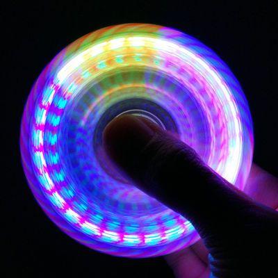 2020新品特卖灯光水晶指尖陀螺多彩发光手指陀螺减压玩具高速旋转