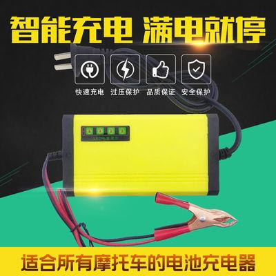 包邮汽车摩托车电瓶充电器12v40ah60ah100ah干水电池自动识别通用