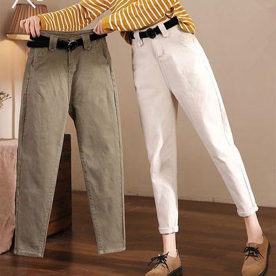 西装裤女九分裤夏季烟管小脚裤职业哈伦西裤黑色休闲裤宽松直筒裤