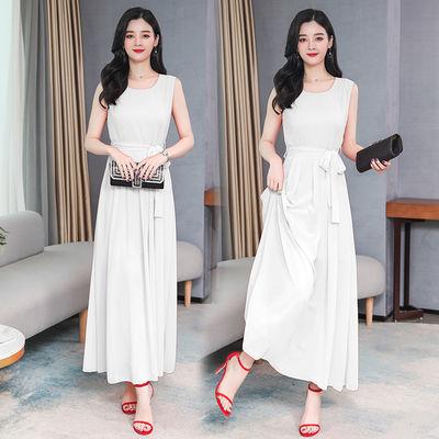 2020新款大码超仙旅游海边度假杭州真丝连衣裙女夏气质显瘦长款
