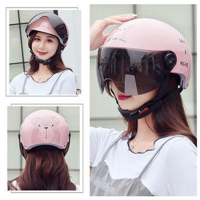 电动车头灰男夏季电瓶车头盔女半盔防晒防紫外线四季通用款安全帽