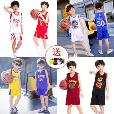 【品质】NBA儿童篮球服套装男勇士库里詹姆斯欧文哈登火箭队球衣