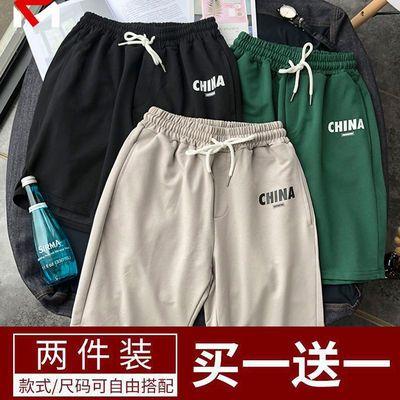 大码短裤男五分裤潮流夏季休闲宽松五分裤男士中裤子大裤衩沙滩裤