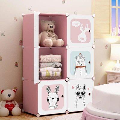儿童简易衣柜收纳架家用出租房卧室家具挂衣柜子储物柜