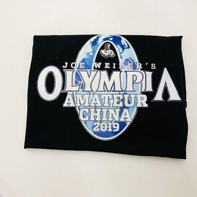 棉2019奥赛T恤奥林匹亚先生健美大赛衣服健身房运动印花短袖