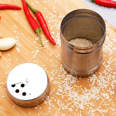烧烤调料罐调味料瓶胡椒孜然佐料撒料撒粉瓶罐旋转式不锈钢调料盒
