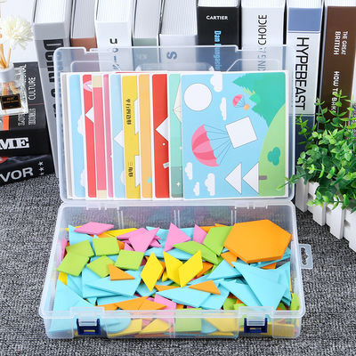 七巧板智力拼图儿童益智玩具4-6岁男开发幼儿园创意拼版女小孩子3【6月2日发完】