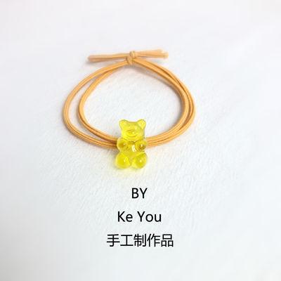 韩版头绳可爱小熊发圈小恐龙发绳套装头饰皮筋扎头发百搭情侣皮套