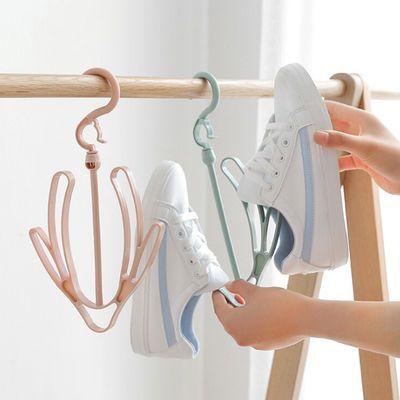 (5个装)晒鞋架塑料阳台挂鞋架晾鞋架晒鞋子挂钩凉鞋架神器防风