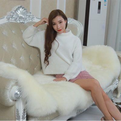 新款整张羊皮澳洲纯羊毛地毯羊毛沙发垫椅子垫卧室客厅飘窗垫毯可