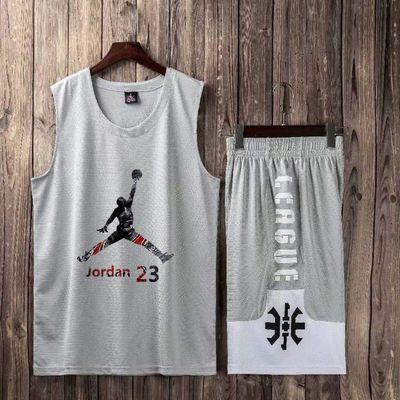 科比詹姆斯哈登篮球服套装男女儿童学生比赛服AJ球衣库里定制印号