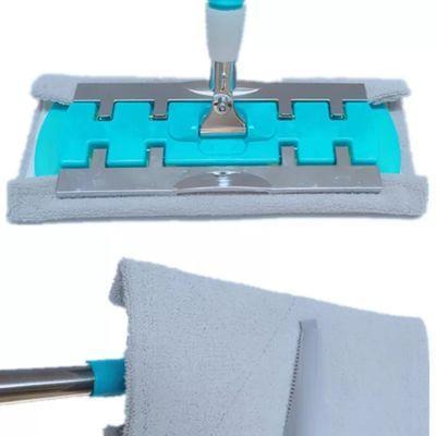 夹固式平板拖把替换布加厚拖布头干湿两用纤维棉家用木地板墩布头