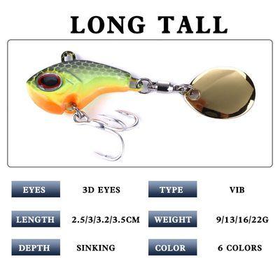 2020新品特卖路亚鱼饵vib通用旋转亮片远投小翘嘴鲈鱼桂鱼专杀海