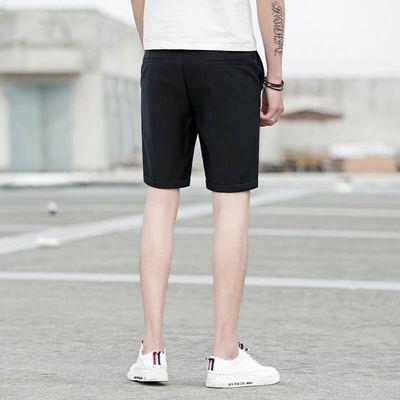夏季西装短裤男夏天修身五分裤休闲七分裤子男韩版潮流白色5分裤