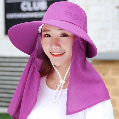帽子女夏季遮阳帽遮脸防晒帽防紫外线干农活百搭女士太阳帽采茶帽