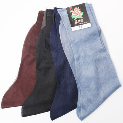 袜子男夏季超薄款丝袜牡丹锦纶老式松口中老年男人防勾丝男士丝光