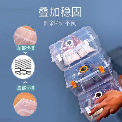 耐奔【买5送5】塑料装鞋盒收纳透明家用车载长靴子鞋盒鞋子收纳盒