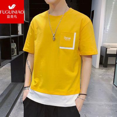 【富贵鸟】T恤男士短袖夏季纯棉韩版潮流宽松帅气学生半袖上衣男