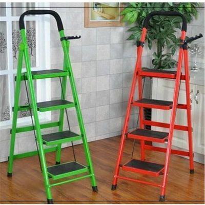 家用梯子折叠梯子不锈钢五步踏板梯人字梯加宽加厚钢管梯移动楼梯