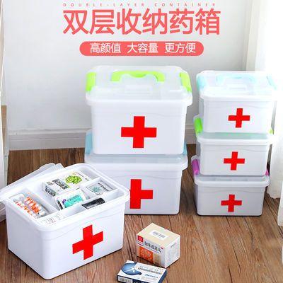 热卖畅销家庭装小医药用多层大号急救药品收纳盒家用塑料儿童药箱