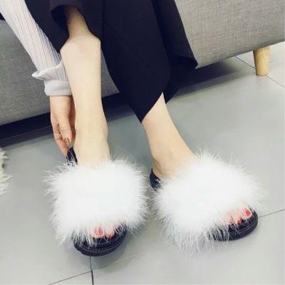毛毛拖鞋女外穿2020夏季新款韩版时尚可爱家居厚底百搭网红凉拖鞋