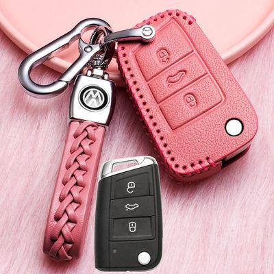 2019款大众速腾专用真皮钥匙套19款速腾汽车专用遥控钥匙包扣