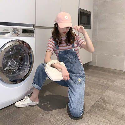雏菊牛仔背带裤女春季2020新款韩版宽松小个子流行减龄网红吊带裤