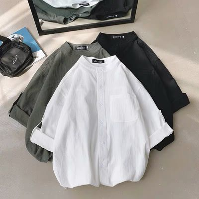 2020新款心机上衣欧货小衫洋气衬衫女短袖欧洲站女装宽松设计感小