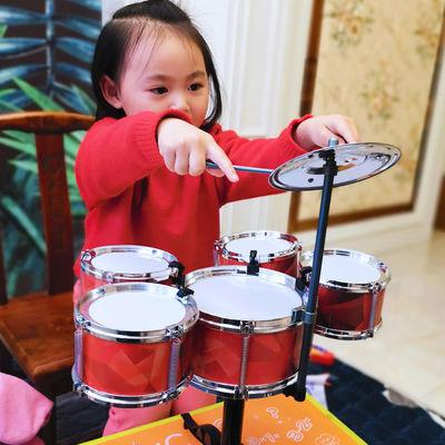 架子鼓儿童玩具大号仿真初学者爵士鼓打击乐器男女孩吉他开发智力