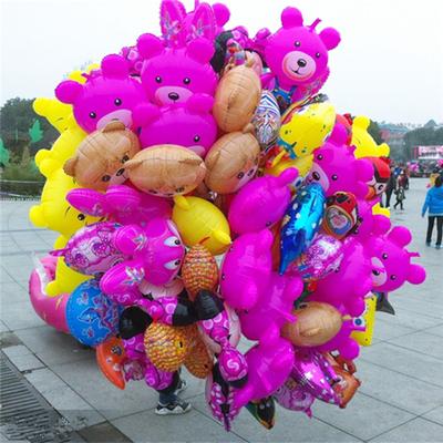 宝宝看眼氢气球铝膜气球卡通飘空动物喜洋洋拖杆气球满月气球批发