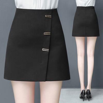 短裙女夏季2020新款高腰ins超火的半身裙A字包臀裙春秋黑色一步裙