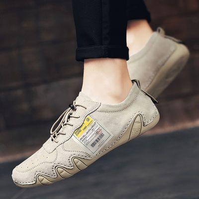巧乐虎流行男鞋舒适运动鞋休闲透气真皮八爪鱼鞋个性韩版豆豆鞋子