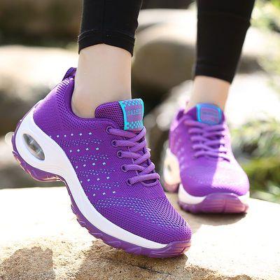春秋户外鞋女防滑徒步鞋气垫厚底坡跟旅游鞋女健步鞋女妈妈运动鞋