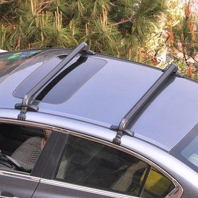 轿车行李架横杆射灯支架载重旅行架百搭行李箱行李框车顶自行车架
