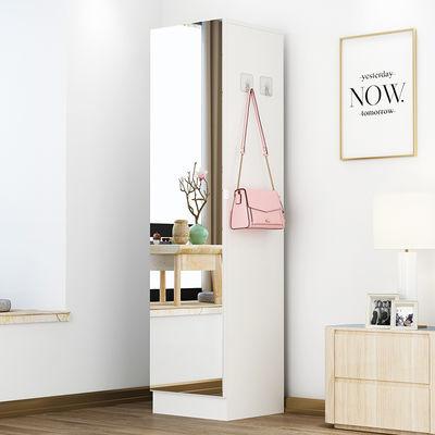 穿衣镜全身试衣镜家用多功能储物柜小户型挂衣柜带镜子简约落地镜