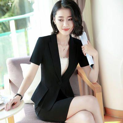 美容院工作服职业装套装女夏季上班时尚气质酒店前台工作装女夏装