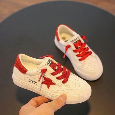 芭芭鸭儿童板鞋小白鞋男童运动鞋女童休闲鞋子2020春季新款韩版潮