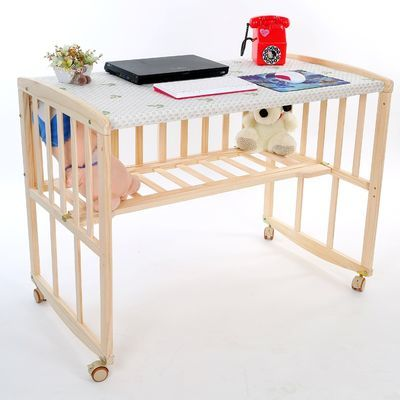 热销多功能婴儿床实木无漆摇摇床摇篮床拼接床游戏床bb床便携式宝