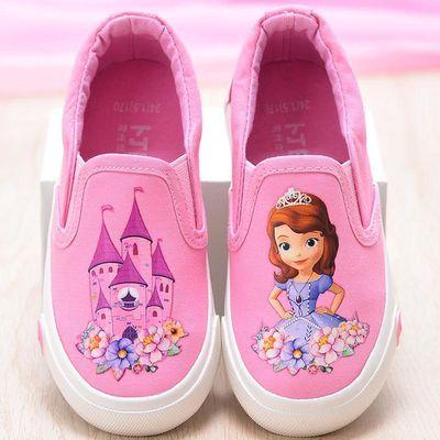 儿童帆布鞋女童小白鞋学生鞋低帮板鞋宝宝鞋休闲鞋春季女童布鞋