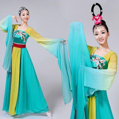 2020新款古典舞蹈服水袖伞舞演出服采薇舞蹈女飘逸仙女成人惊鸿舞