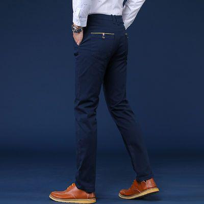 春秋韩版男装弹力休闲裤男士商务西裤宽松黑色青年直筒修身长裤男