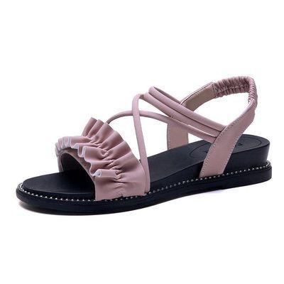 少女夏季新款12女孩韩版公主鞋13大童15岁初中高中学生10平底凉鞋