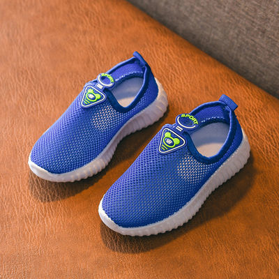儿童运动鞋2020春夏男童鞋宝宝网鞋女童鞋透气单鞋一脚蹬懒人鞋潮
